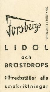 1930s Forsbergs Swedish Athletes Back
