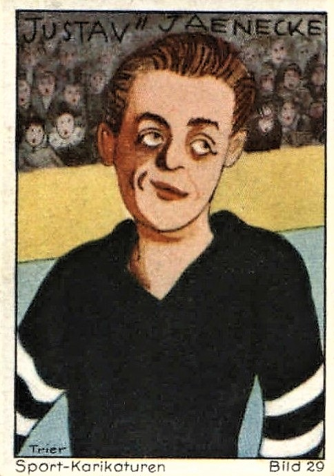 1932 Haus Bergmann Sport-Karikaturen Hockey Gustav Jaenecke