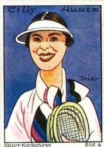 1932 Haus Bergmann Sport-Karikaturen Tennis