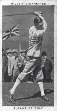 1937 Wills Our King and Queen Golf