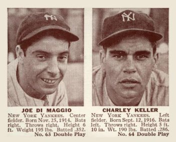 1941 Double Play Joe DiMaggio - Keller