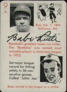 1945 Leister Autographs Game Babe Ruth