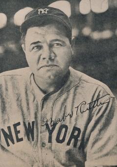 1947-49 Pacific Coast Baseball News Babe Ruth