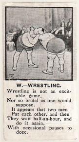 AJ Coudens Monax Sports Alphabet - Wrestling (1924)