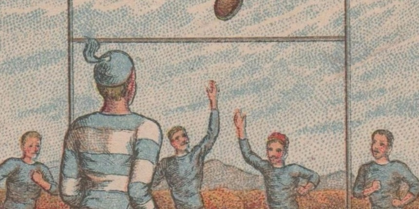 Blue Striped Football Trade Header