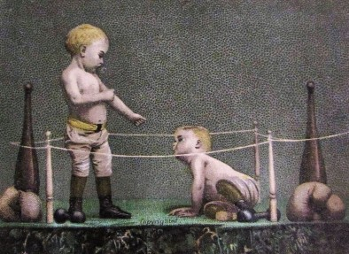 Boxing Children Trade Cards