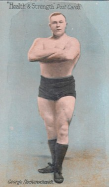 George Hackenschmidt 1908 Health and Wellness Postcard Wrestling - Copy