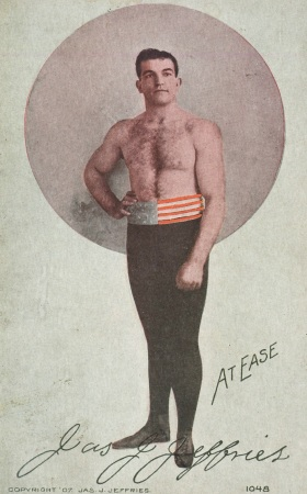 James Jeffries Benham Indian Boxing Postcard