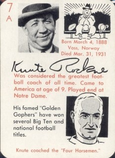 Knute Rockne 1945 Leister Autographs