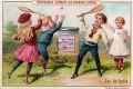 Liebig 1892 Children Games Tennis