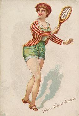 N196 Pretty Athletes Tennis