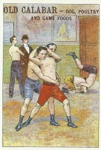 Old Calabar Wrestling Trade Card