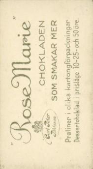 Rose Marie Chokladen Back