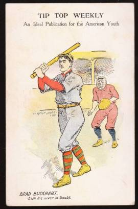 Tip Top Weekly Baseball Postcard
