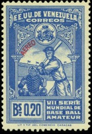 1944 Venezuela Amateur World Series Stamp