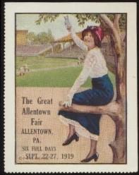1919 Allentown Fair Stamp