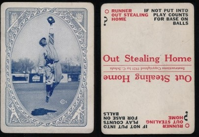 1921 Schulz Game Cards