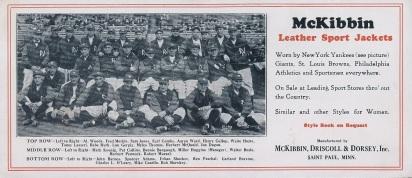 1927 McKibben Yankees Blotter