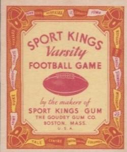 1934 Sport Kings Football Varsity Game