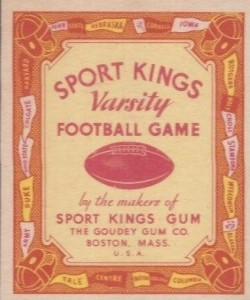 1934 Sport Kings Football Varsity Game