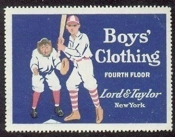 Lord and Taylor Baseball Stamp