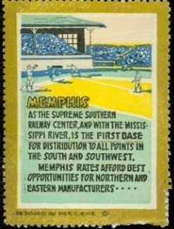 Memphis Railroad Baseball Stamp