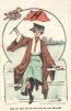1905 Souvenir Football Postcard College Girls