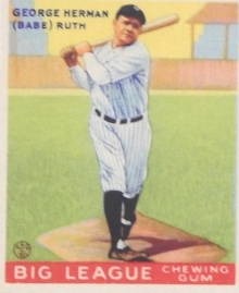 Ruth 1933 Goudey Batting