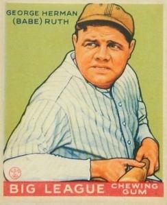 Ruth 1933 Goudey Green