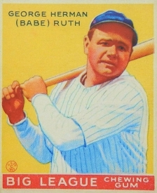 Ruth 1933 Goudey Yellow
