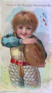 Sun Life Insurance Football Trade Card