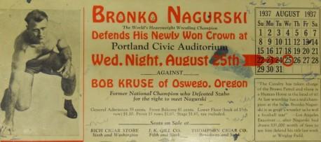 Bronko Nagurski 1937 Blotter