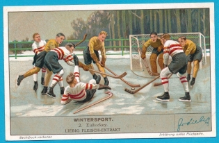 Liebig Fleisch-Extrakt Hockey Trade Card