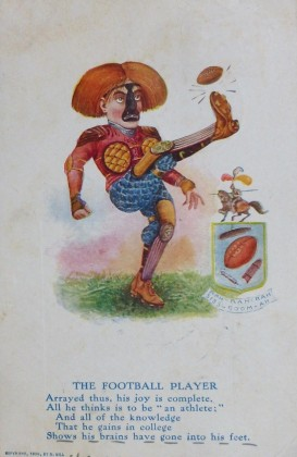 1906 R. Hill Poem Football Postcard