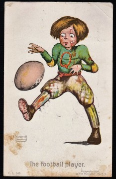 Gassaway Rotograph Football Player Postcard (1906) - Copy