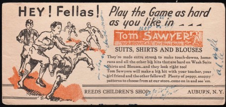 Tom Sawyer 1920s-1930s Football Blotter.jpg