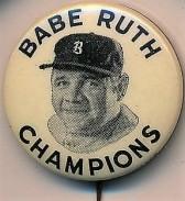Babe Ruth Quaker Oats Champions Pin