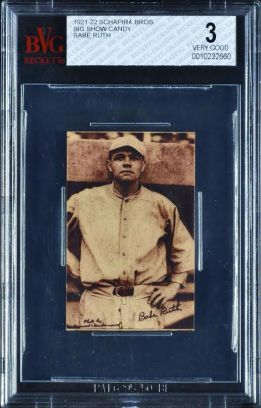 Babe Ruth Schapira Brothers Big Show Candy
