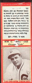 prewarcards-diamond-matchbook-bill-lee