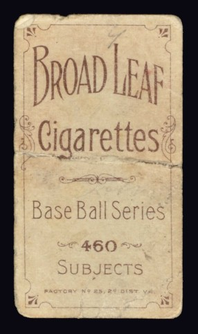 Ty Cobb Broadleaf Back T206