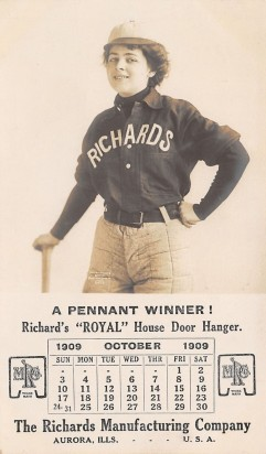 1914 Richards-Wilcox Baseball Trade Card