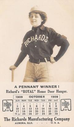 1914 Richards-Wilcox Baseball Trade Card