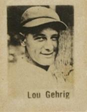 1930 Baguer Chocolate Lou Gehrig