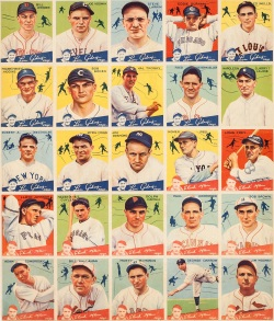 1934 Goudey Uncut Sheet with 1933 Nap Lajoie