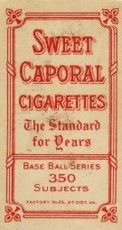 Sweet Caporal T206 Back