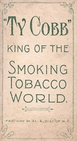 Ty Cobb Back Tobacco T206