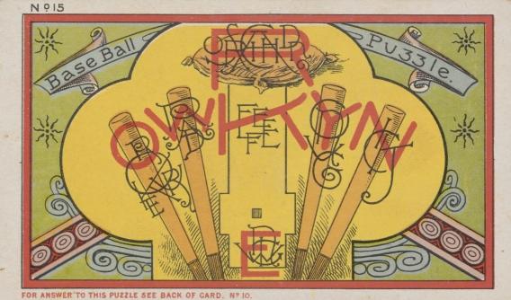 1889 Duke Honest Puzzles Baseball