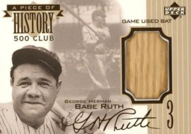 Babe Ruth Bat Card