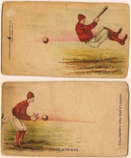 N354 Consolidated Cigarettes Turn Card Baseball Combined