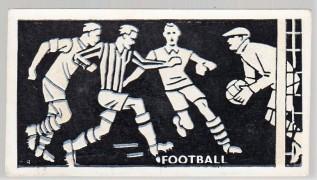 1938 Bocnal Silhouettes Football (Soccer)